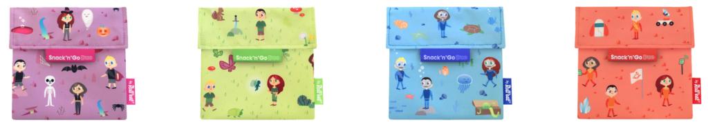 modelos de bolsa para la merienda infantil